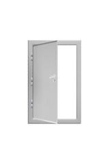 Opened steel door