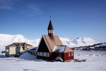 Acrylic Prints Arctic Longyearbyen Church