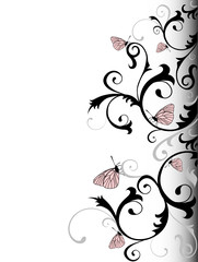 Vector Illustration Of Elegance Background With Butterflies