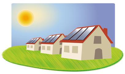 lotissement maisons à panneaux solaire