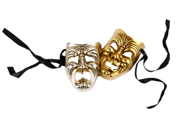 Theatrical masks laughter and crying