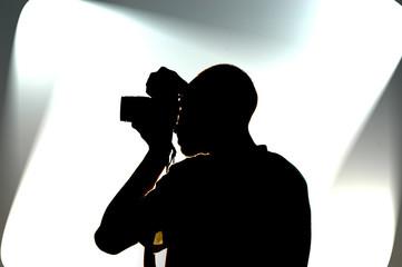 Photographer on work