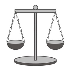 Vector of scales of justice