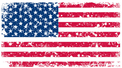 Vector illustration - Flag of USA in retro style