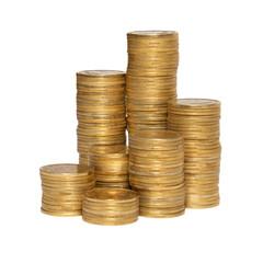 Column of golden coins