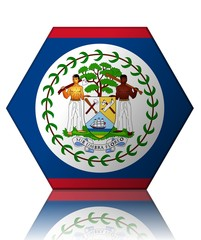 belize drapeau hexagone belize flag
