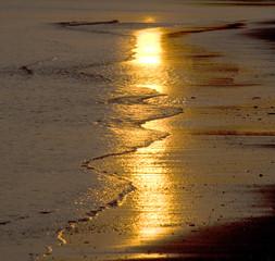 Fototapete - Trearddur Bay Sunset