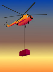 Helicopter with box
