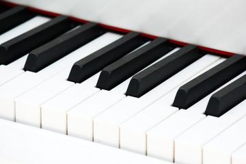 white piano