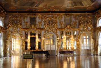hall palace interior in Pushkin