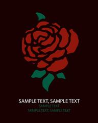greeting card rose