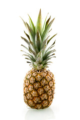 Ripe and fresh pineapple isolated on white background