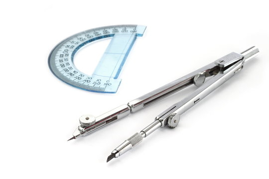 Compass and protractor