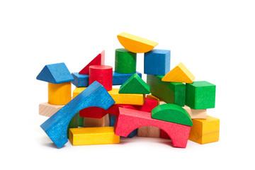 heap of color blocks
