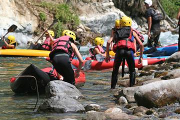 Groupe de kayak