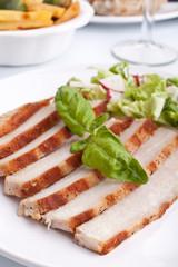 sliced pork chops