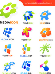 collection of abstract logos and icons