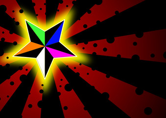 Stern in Farbe