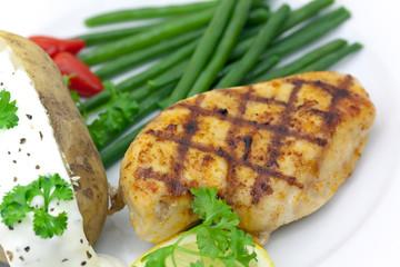 Deurstickers Kip Hühnerbrust -Steak , gegrillt