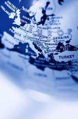 Fotorolgordijn Wereldkaart Europe globe