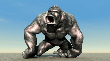 Wütender Gorilla