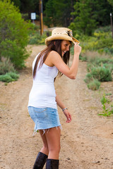 Country Cowgirl having a laugh