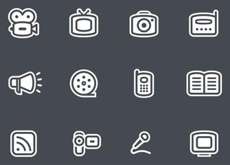 Media - Vector Icons Set