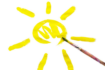 Sun in the child's drawing