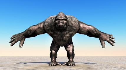 Ein Gorilla posiert