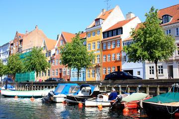 Garden Poster Scandinavia colorful houses of copenhagen