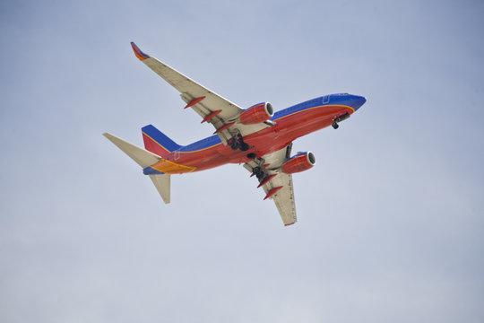 Boeing 737 Airliner In Flight
