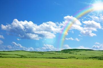 Rainbow and meadow