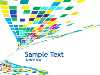 abstract mosaic vector composition