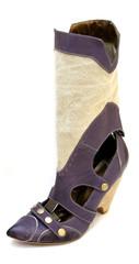 Purple high heel cowgirl shoes