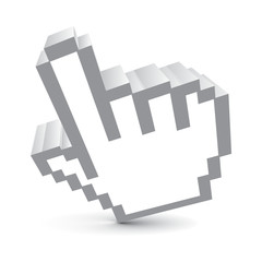 3d vector hand mouse symbol