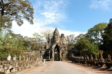 South Gate Angkor Thom, Cambodia
