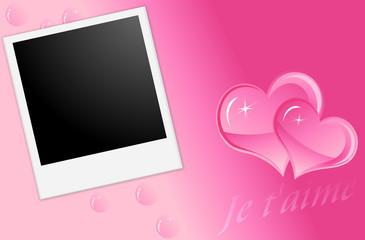 cadre photo  amour saint valentin