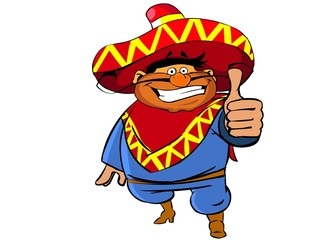 Pleased mexican man