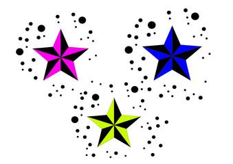 Sterne in Farbe