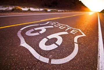 Fotobehang Route 66 Route 66 sunset