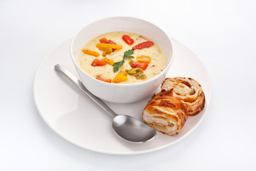 cheese and vegetable cream soup