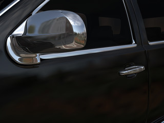 limousine limo door from an angle