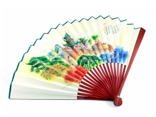 A japanese fan isolated