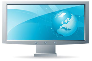 widescreen business desktop