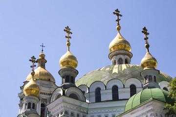 Cupolas of church (Kiev-Pecherska Lavra - Kiev, Ukraine)