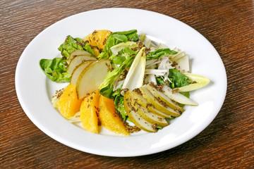 sweet orange and pear salad