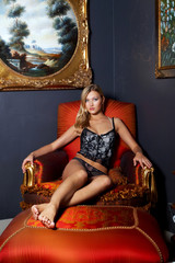 sexy woman on a chair