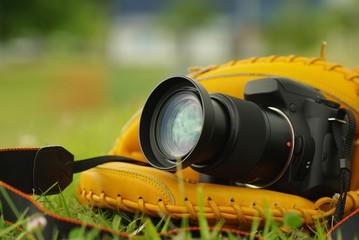 グローブとカメラ