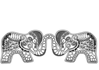 patterned elephants luck