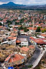 Small Mountain Town - birds eye view